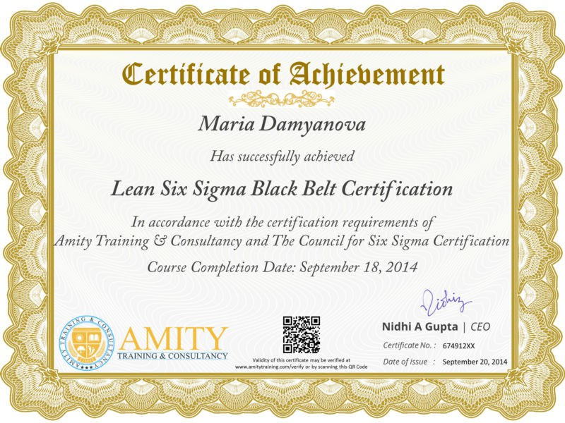 Lean Six Sigma Black Belt Training And Certification