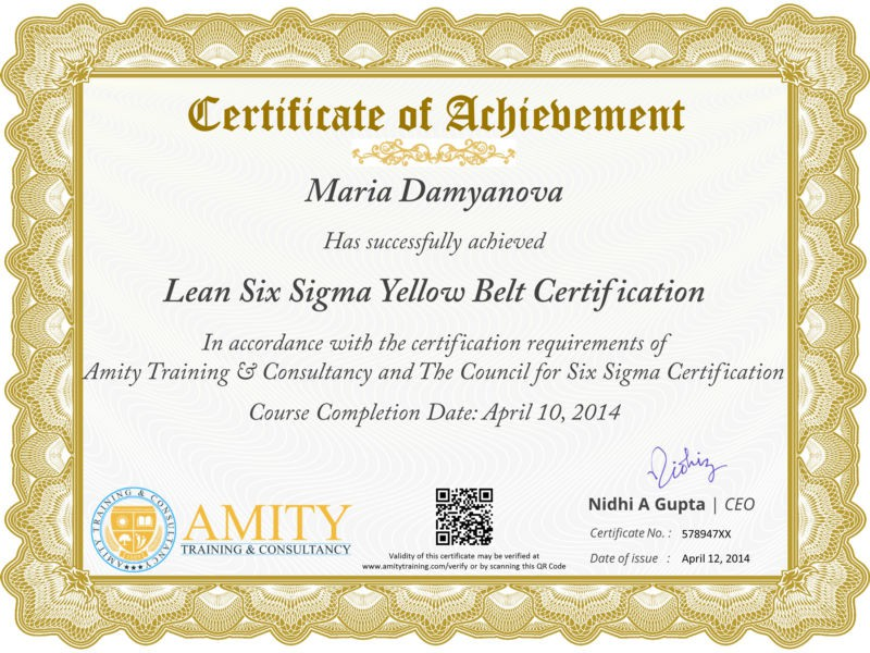 Six Sigma Yellow Belt Training And Certification Program