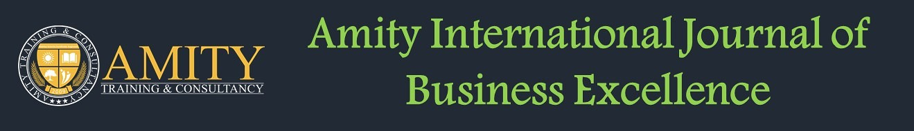Amity International Journal of Business Excellence