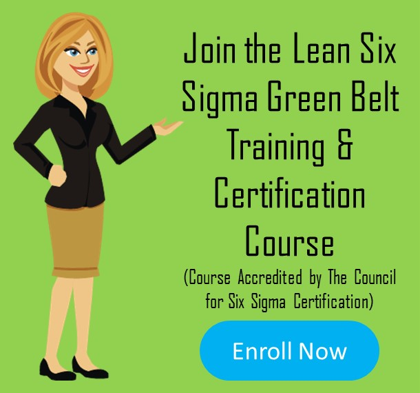 Six sigma green belt training confirm
