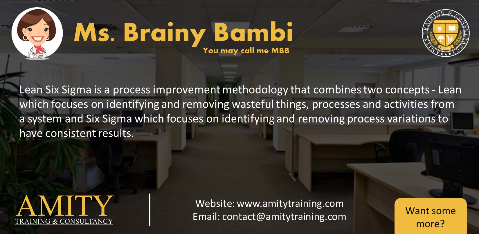 ms brainy bambi Lean Six Sigma is a process improvement methodology that combines two concepts